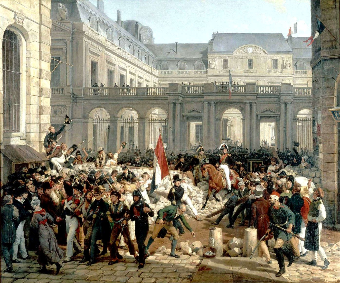 Louis Philippe Going From The Palais Royal To The Hotel De Ville
