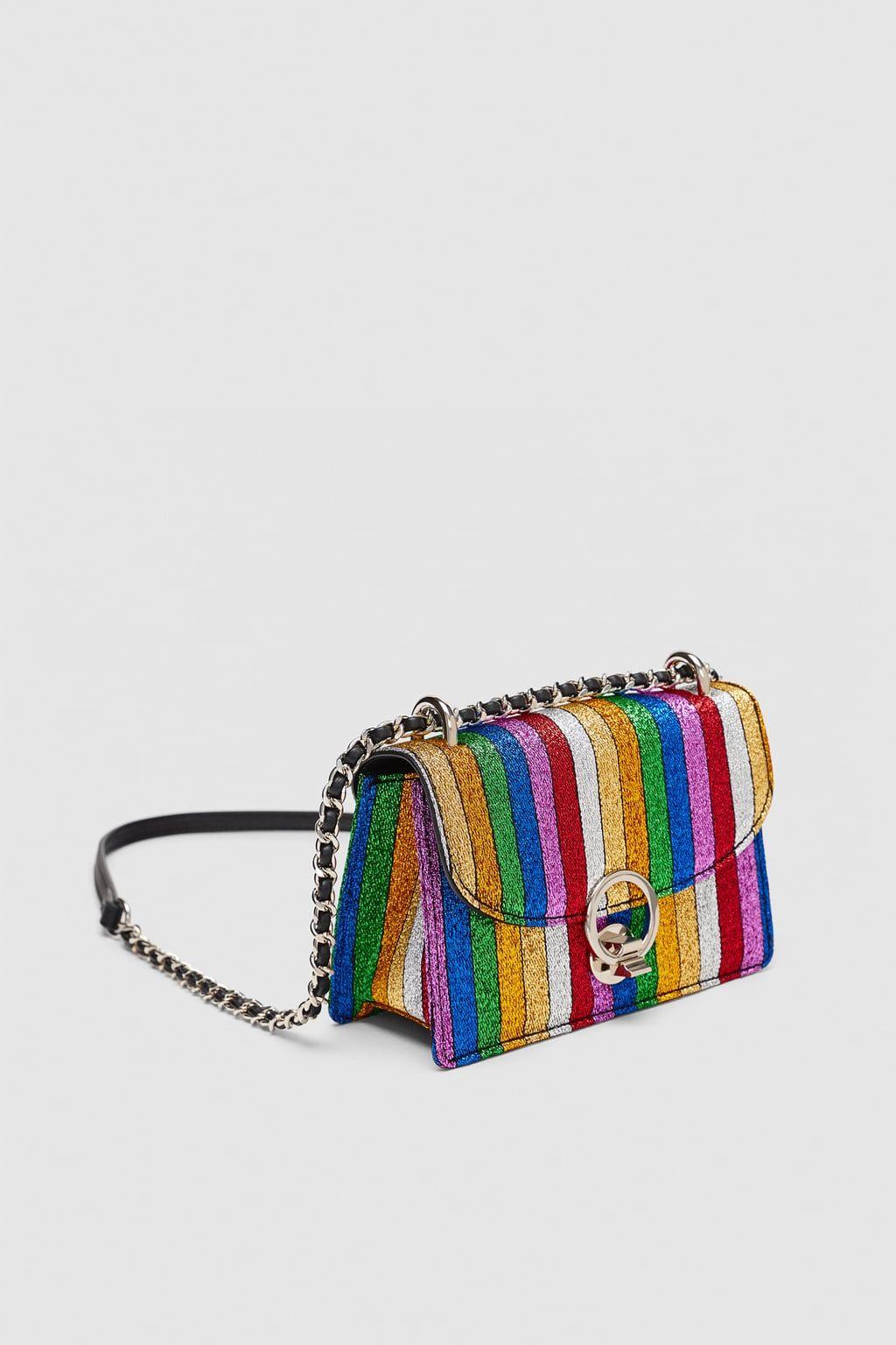 Mini Bandoulière Sac De Multicolores Image 1 Zara À Rayures wNn0v8m