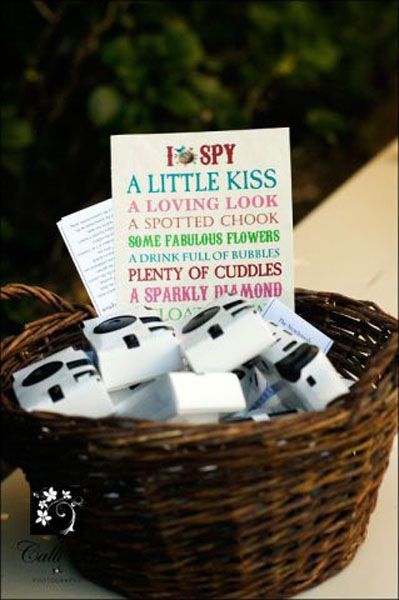 Basket W Instruction Sign Or I Spy Game Wedding Reception Activities Fun Wedding Photography Wedding Games For Kids