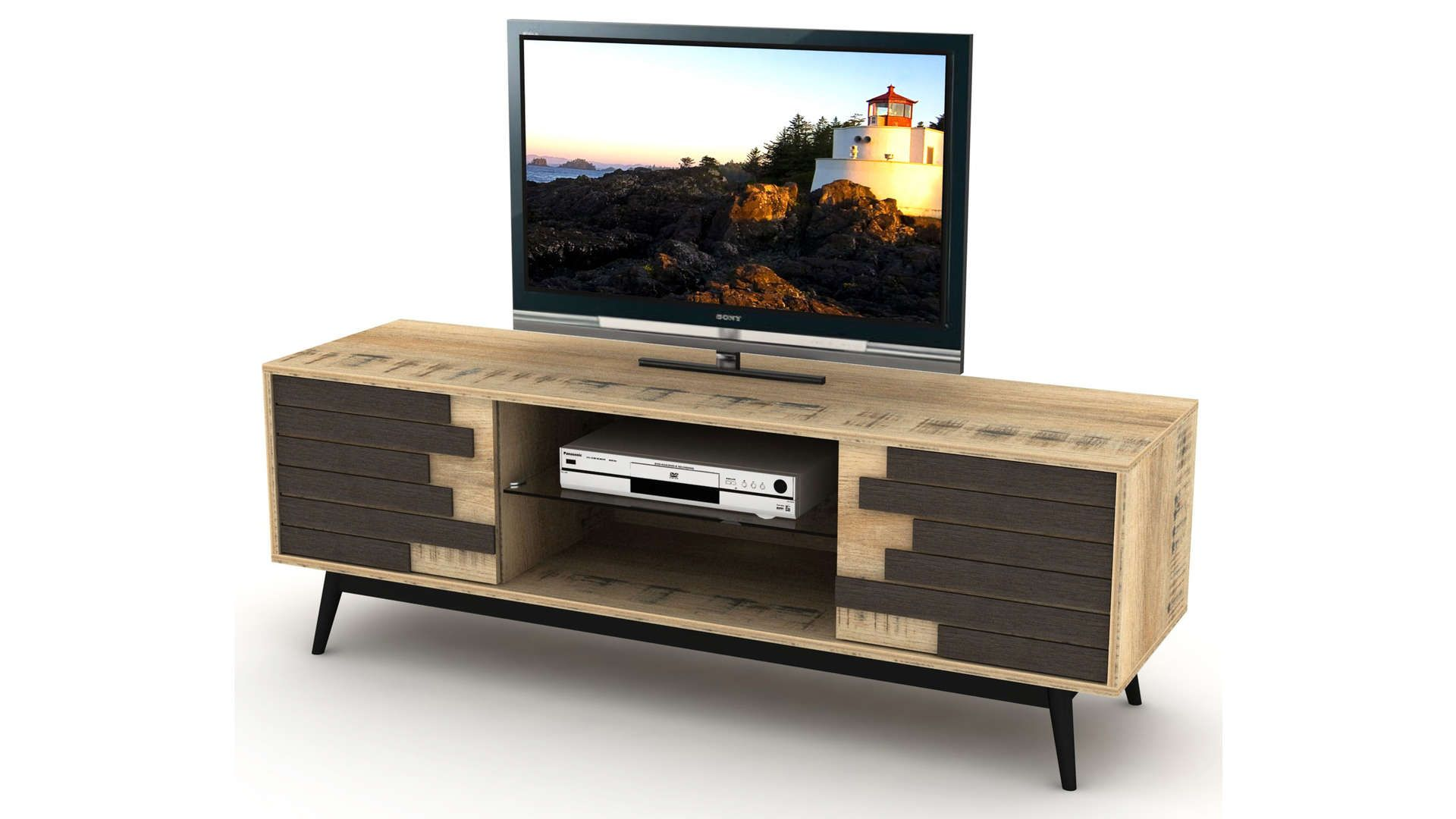 Meuble Tv 140 Cm 565208 En 2020 Meuble Tv Meuble Tv Conforama Decoration Salon