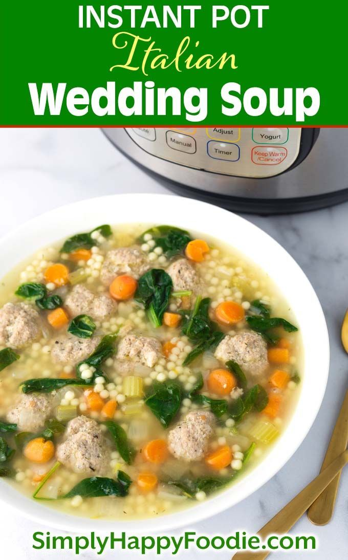 Instant Pot Italian Wedding Soup | Simply Happy Foodie