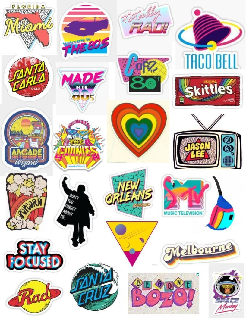 Artsy 80s Aesthetic Png Aesthetic Decal Aesthetic Stickers Tumblr Stickers Print Stickers