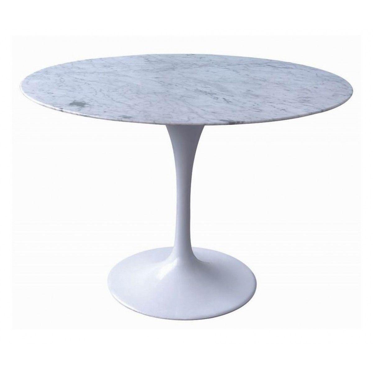 Great Tulip Marble Dining Table 100cm   Eero Saarinen Replica   Marble Top    Aluminium   Dining