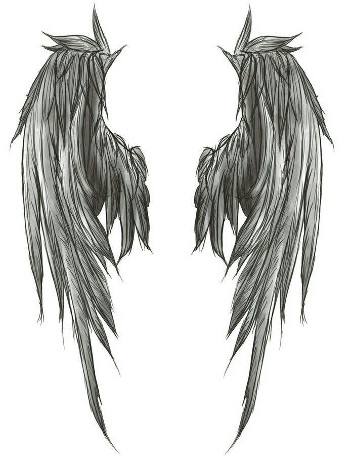 White Angel Wings Tattoos: Desenho De Asas De Anjo, Tatuagem De