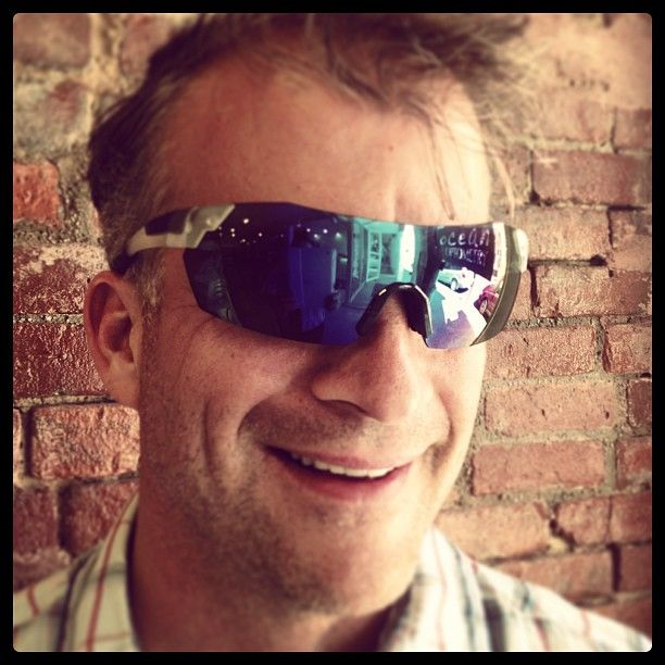 Ocean s Catch of the day John is seriously ready to cycle in Pivlock V2 by Smith Optics