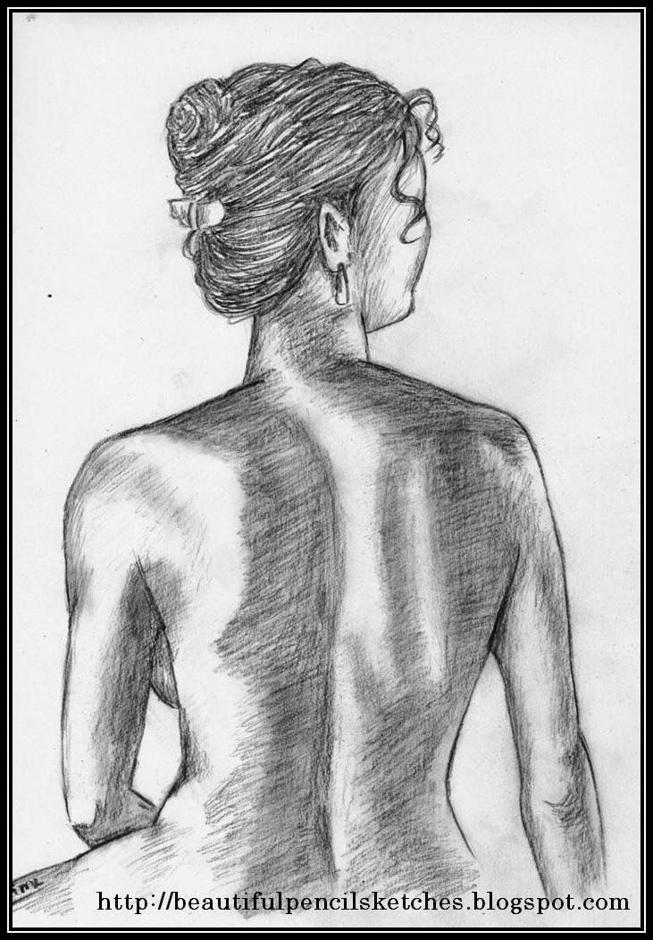 Beautiful pencil sketches charcoal pencil sketch of beautiful female figure