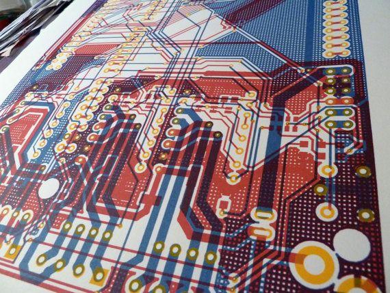 Circuit board screen print Polarshield v1.6 PCB by uptomuch