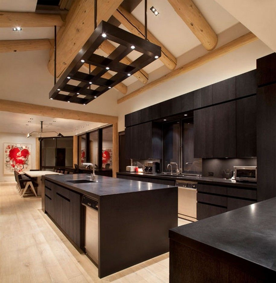Dark Wood Modern Kitchen Pininki Pinki On Kuchnia Inki  Pinterest