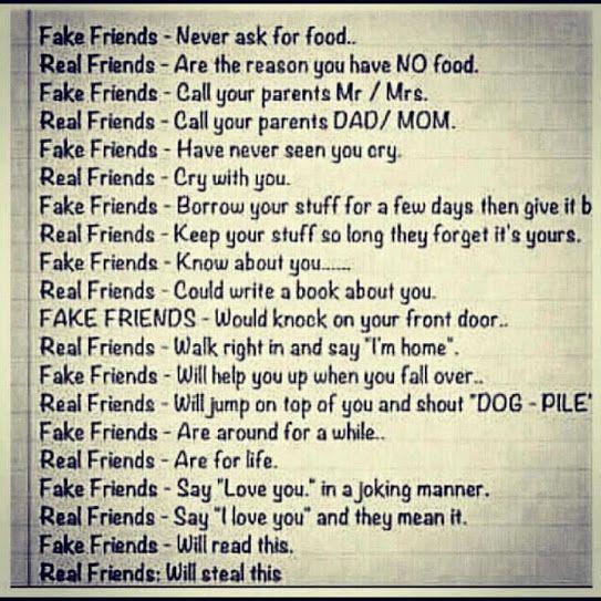 Fake Friend Real Friend Friends Quotes Friend Quotes For Girls Fake Friend Quotes