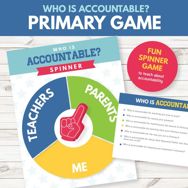 primary game about accountability perfect for primary teachers or