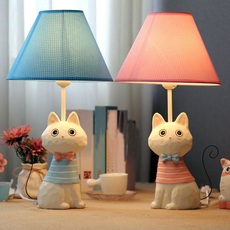 E27 Child Bedroom Table Lamps Cartoon Lovely Cat Model Iron Tail Fashion Creative Novelty Desk Lamp Hom Table Lamp Beautiful Table Lamp Table Lamps For Bedroom