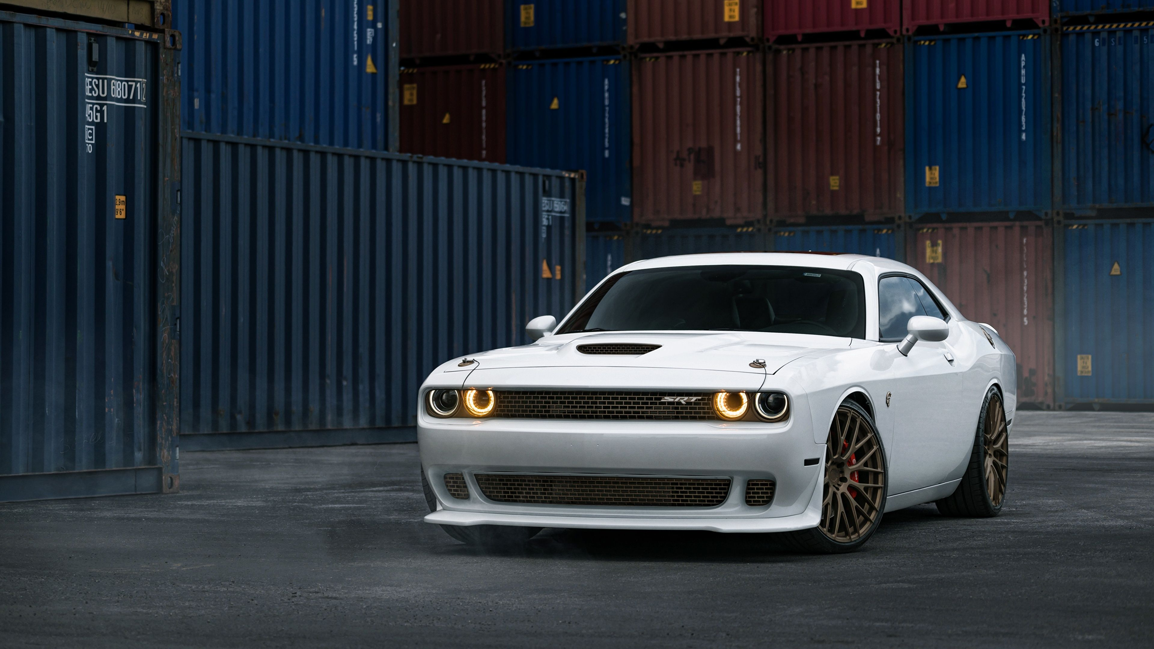 Picture dodge tuning william stern challenger white hellcat auto 3840x2160 cars automobile