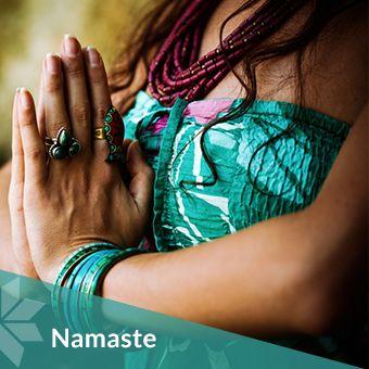 namaste a respectful greeting said when giving a namaskar