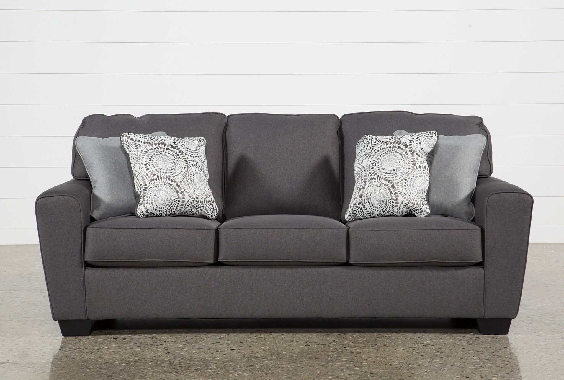 Outstanding Ashley Mcdade Graphite Sofa Grey 295 Sofa Sofa Caraccident5 Cool Chair Designs And Ideas Caraccident5Info