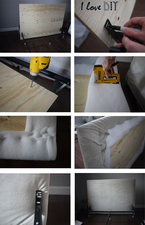 t te de lit moelleuse capitoner fait maison chambre pinterest t tes de lit fabriquer soi. Black Bedroom Furniture Sets. Home Design Ideas