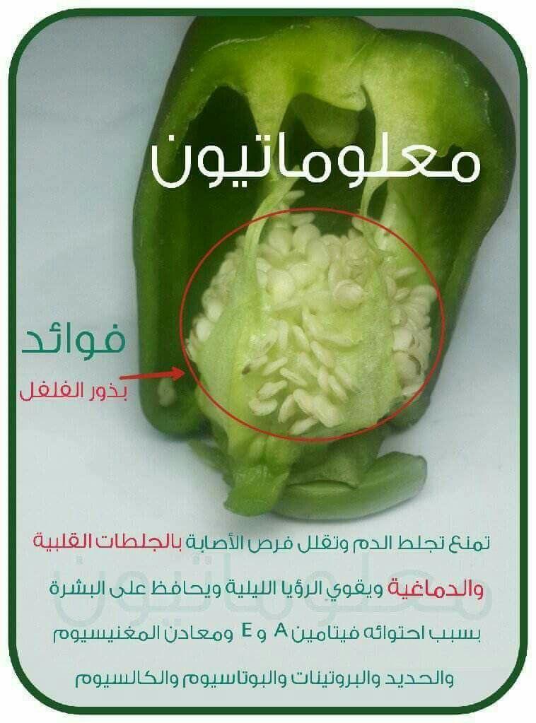 بذور الفلفل Healthy Facts Health Fitness Nutrition Health Healthy