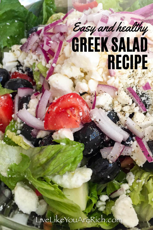 Greek Salad Recipe Lemon Juice