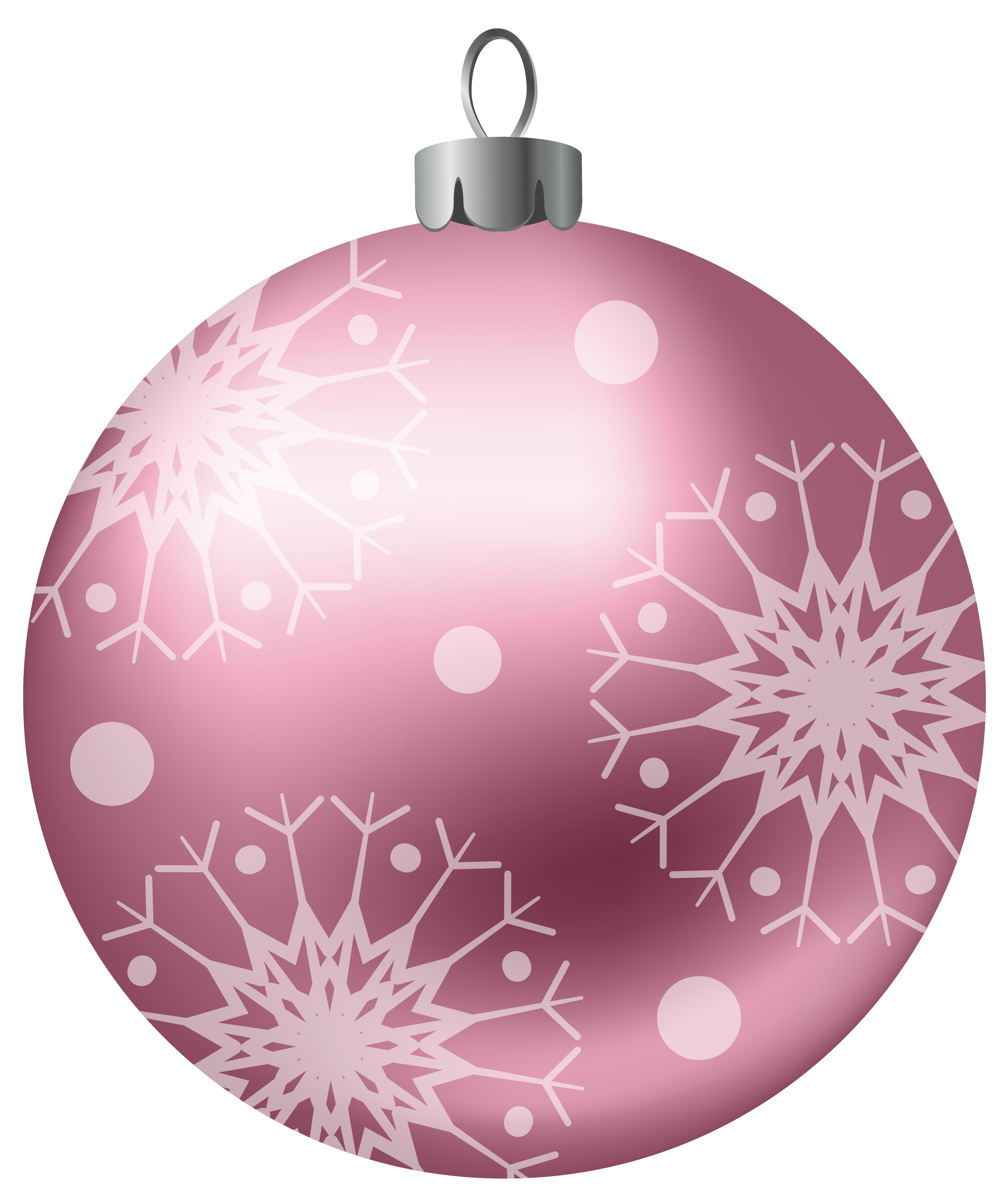 Christmas Ball Pink Png Clipart Image Christmas Balls Christmas Stickers Christmas