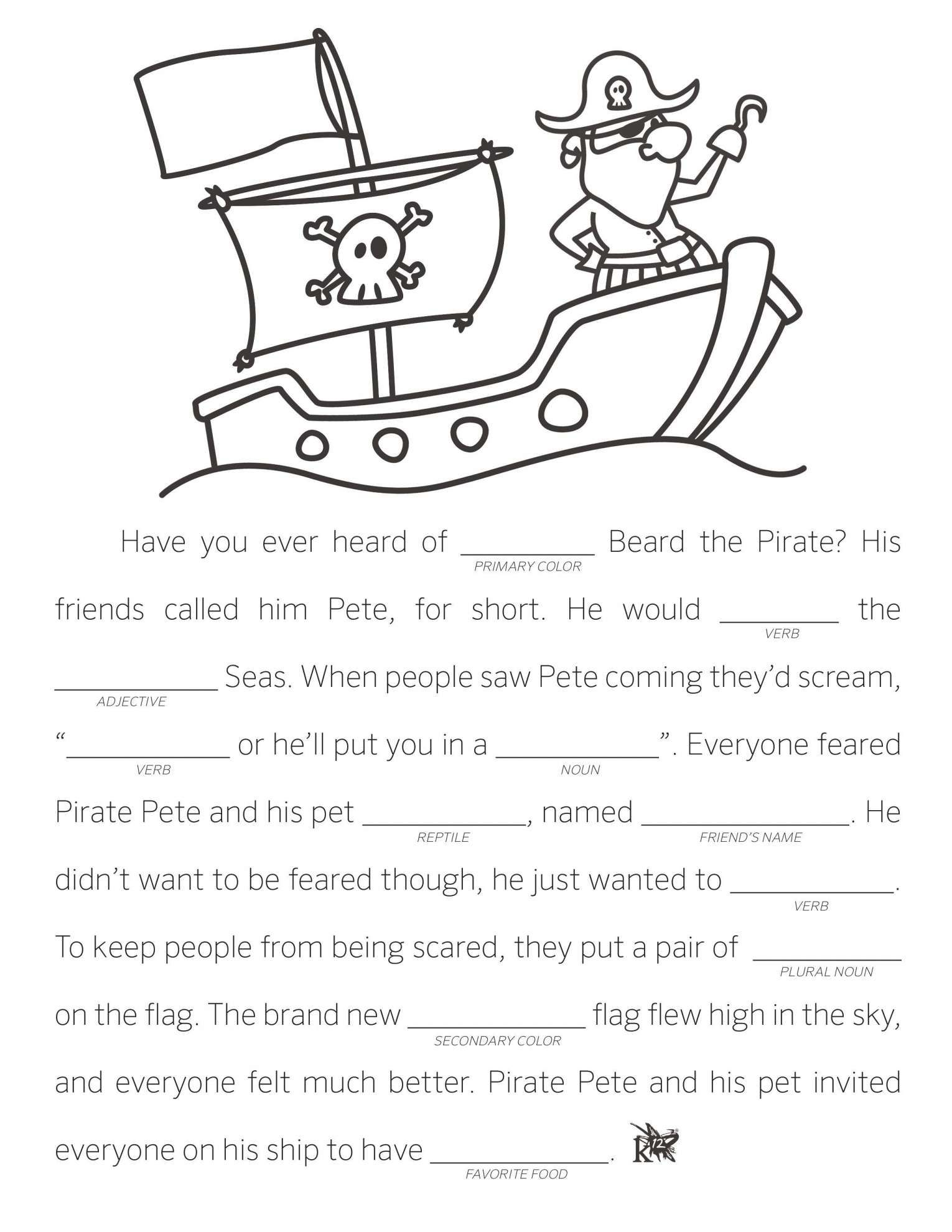 7 Fill In The Blank Story Worksheet Kindergarten