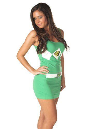Power Rangers Green Ranger Tank Dress (Junior - XLarge) The Power - hot halloween ideas