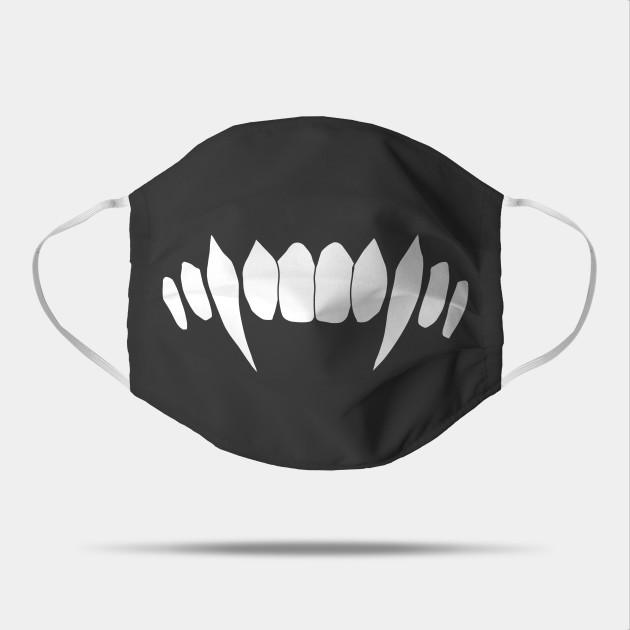 Cartoon Monster White Sharp Teeth Fangs Vampire Sharp Teeth Mask Teepublic Cartoon Monsters Sharp Teeth Mask