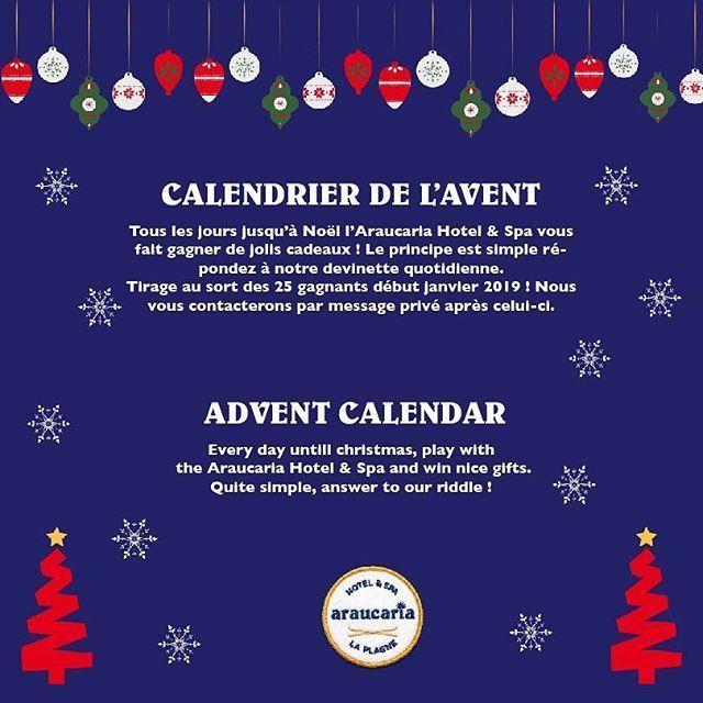 """Araucaria Hotel & Spa on Instagram: """"Nous lançons aujourd'hui notre calendrier de l'Avent ! Bonne chance à tous !  Nous lançons aujourdhui notre calendrier de lAvent ! Bonne chance à tous !  . . Our Advent Calendar begins today good luck ! #bonpourcalendrierdelavent Araucaria Hotel & Spa on Instagram: """"Nous lançons aujourd'hui notre calendrier de l'Avent ! Bonne chance à tous !  Nous lançons aujourdhui notre calendrier de lAvent ! Bonne chance à tous !  . . Our Advent Calenda #bonpourcalendrierdelavent"""