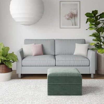 Dante Sofa With Chrome Legs Light Gray Cosmoliving By Cosmopolitan Furniture Sofa Sofa Furniture