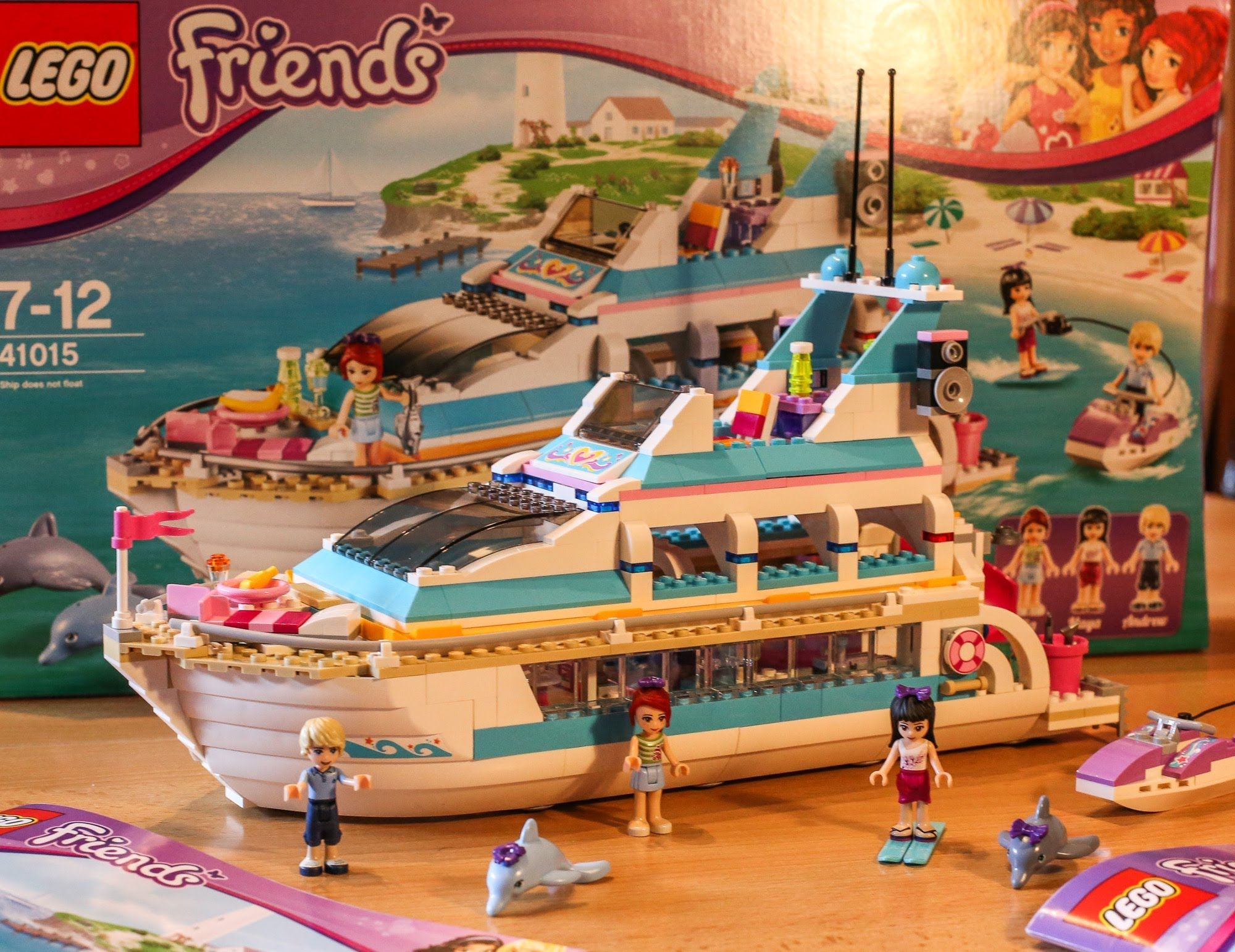 Test Yacht Dolphin Cruiser Lego Friends Set 41015 Youtube