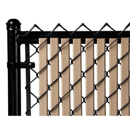 Beige Tube Slats For 12ft Chain Link Fence Chain Link Fence Fence Fence Design
