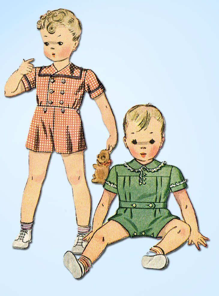 1940s Vintage Simplicity Sewing Pattern 3291 WWII Toddler Boys ...