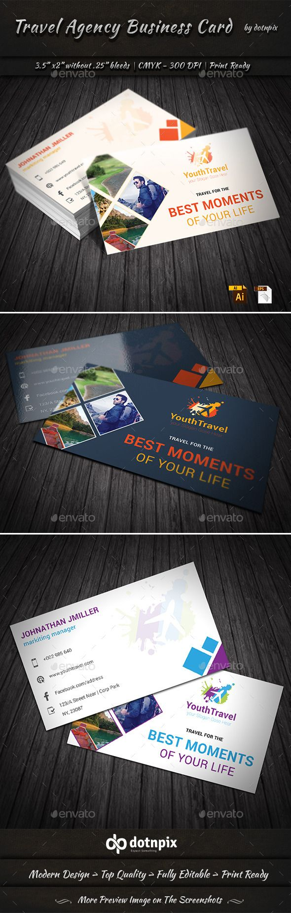 Travel Agency Business Card Agency Business Cards Travel Agency Travel Logo