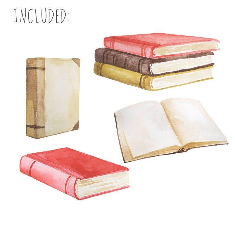 Watercolor Book Clip Art Vintage Book Clipart Novel   Etsy ... (794 x 794 Pixel)