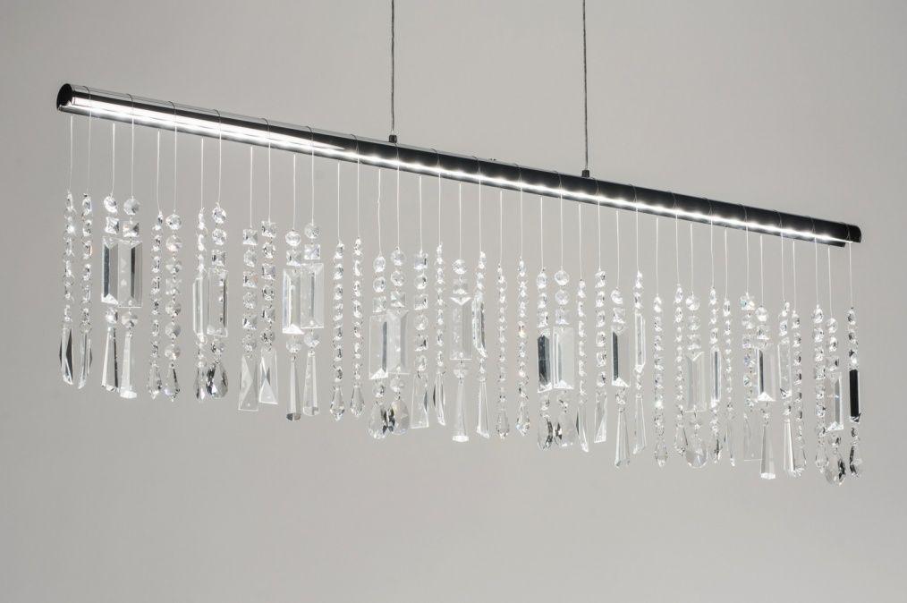 Pendelleuchte 10171 Modern, Kristall, Kristallglas, Metall - wohnzimmer pendelleuchte modern