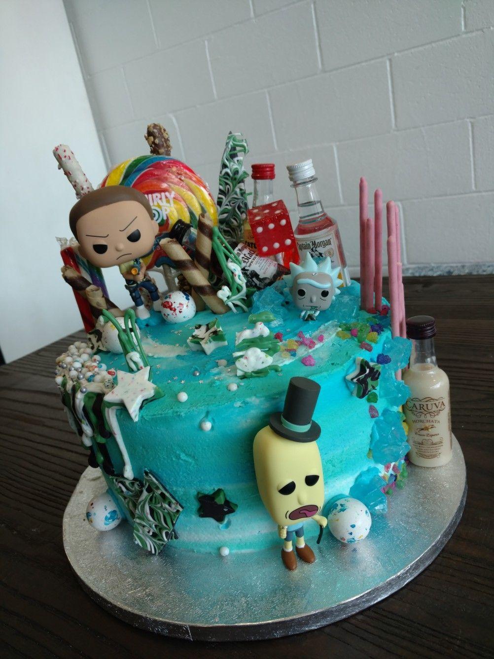 Rick N Morty Cake Adventure Pocky Captain Morgan Rumchata