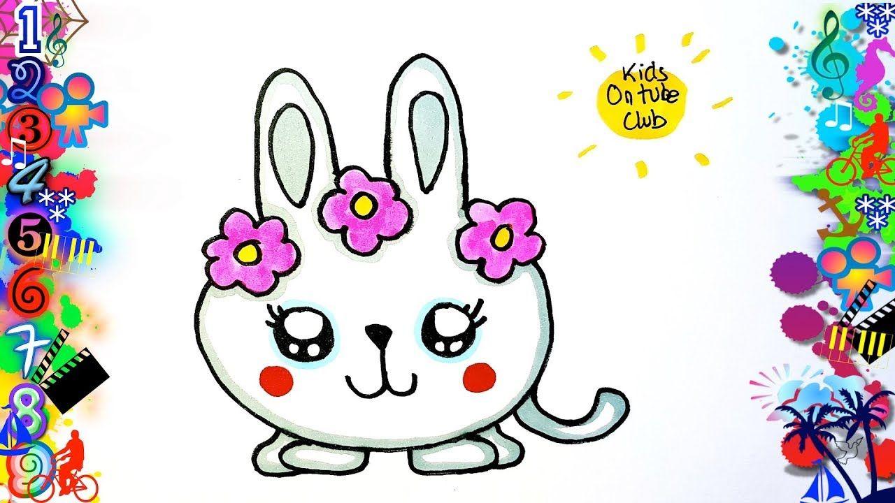 Como Dibujar Una Conejita Kawaii Facil Para Ninos Dibujos Dibujos Para Ninos Dibujos Kawaii Faciles Dibujos Faciles Para Ninos