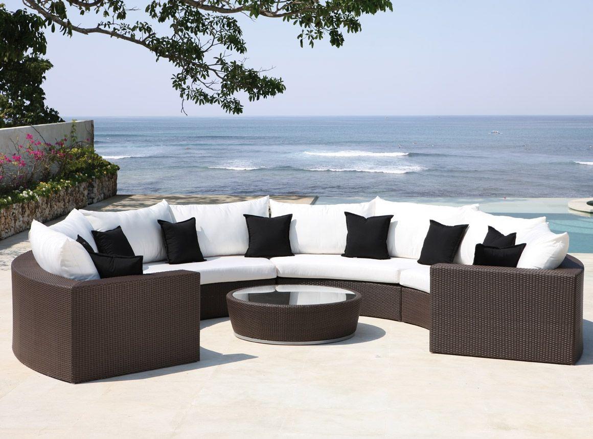 Astonishing Malai Half Moon Lounger Garden Furniture Design Wicker Cjindustries Chair Design For Home Cjindustriesco
