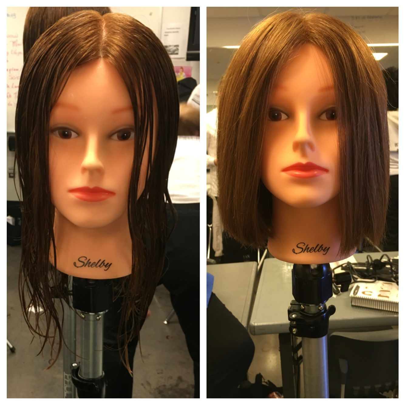 First one length square haircut square one length haircut