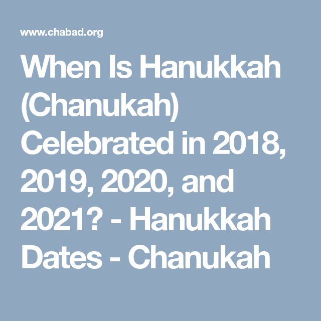 chanukka 2020