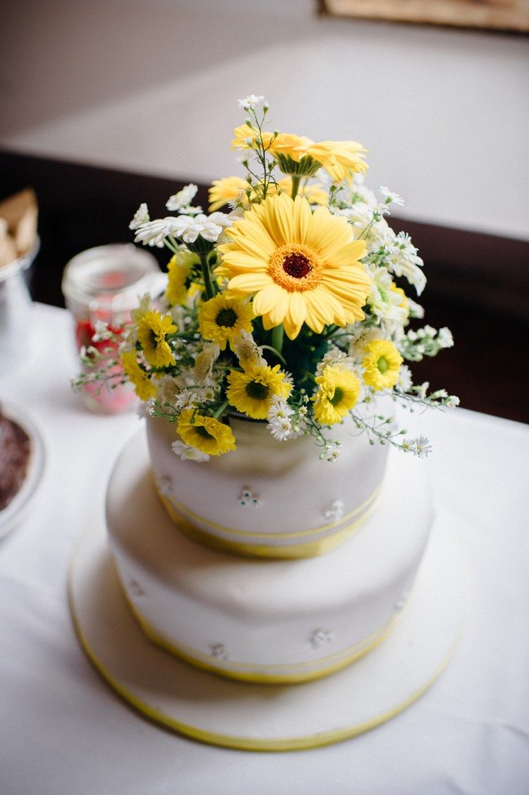 Sweet Hand Crafted Crochet Filled Barn Wedding | Flower cake toppers ...