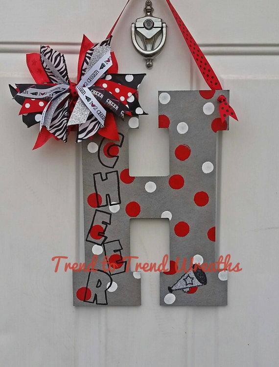 Cheer Letter Cheerleading Wall Decor By Trendtotrendwreaths