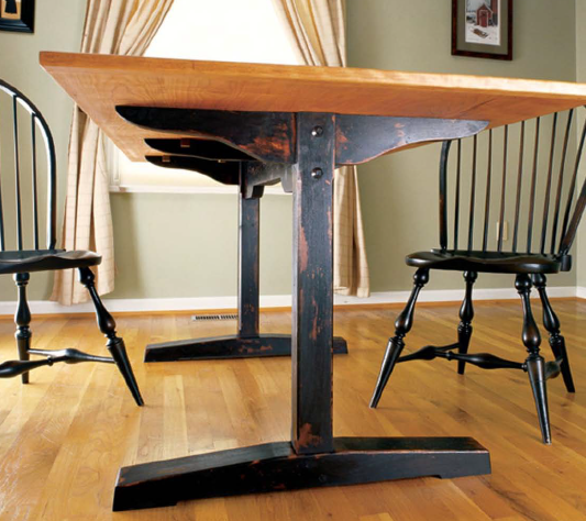The Trestle Table Is A Great Woodworking Project Idea That Never Gets Old Even If
