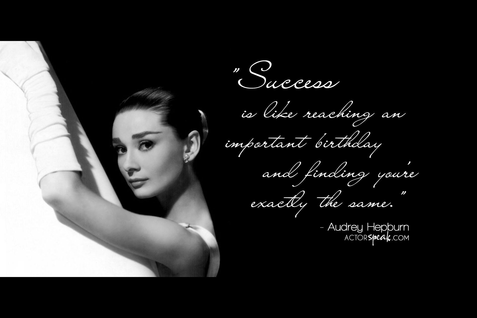 Audrey Hepburn Quotes Audrey Hepburn Actor Quotes