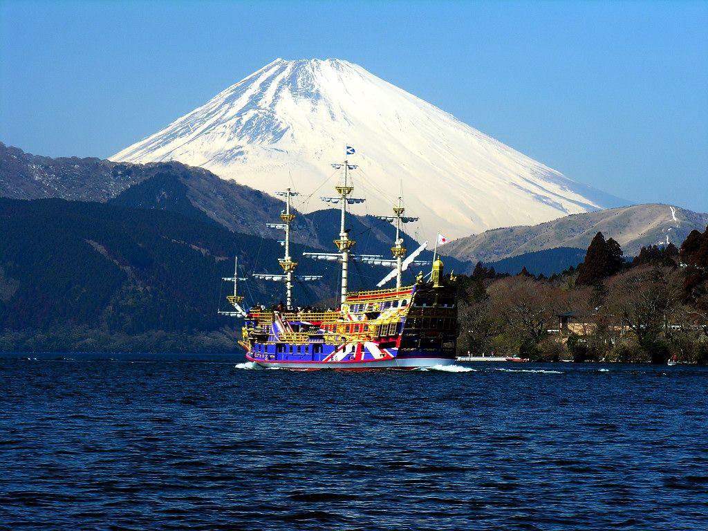 Lake Ashi Mt Hakone In Mt Fiji Japan Hakone Mount Fuji Japan Hakone Japan
