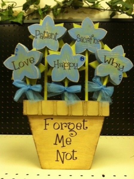 Forget Me Not Flowers Unfinished Wood Woods And Craft