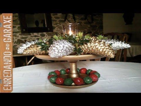 Diy como hacer un centro de mesa navide o colaboraci n - Centros de mesas navidenos ...