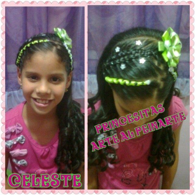 #princesaceleste #peinados #trenzas #cintas #decoracion #niñashermosas #niñasfelices #peluqueriainfantil #peluqueriaprincesitas #monagasvzla