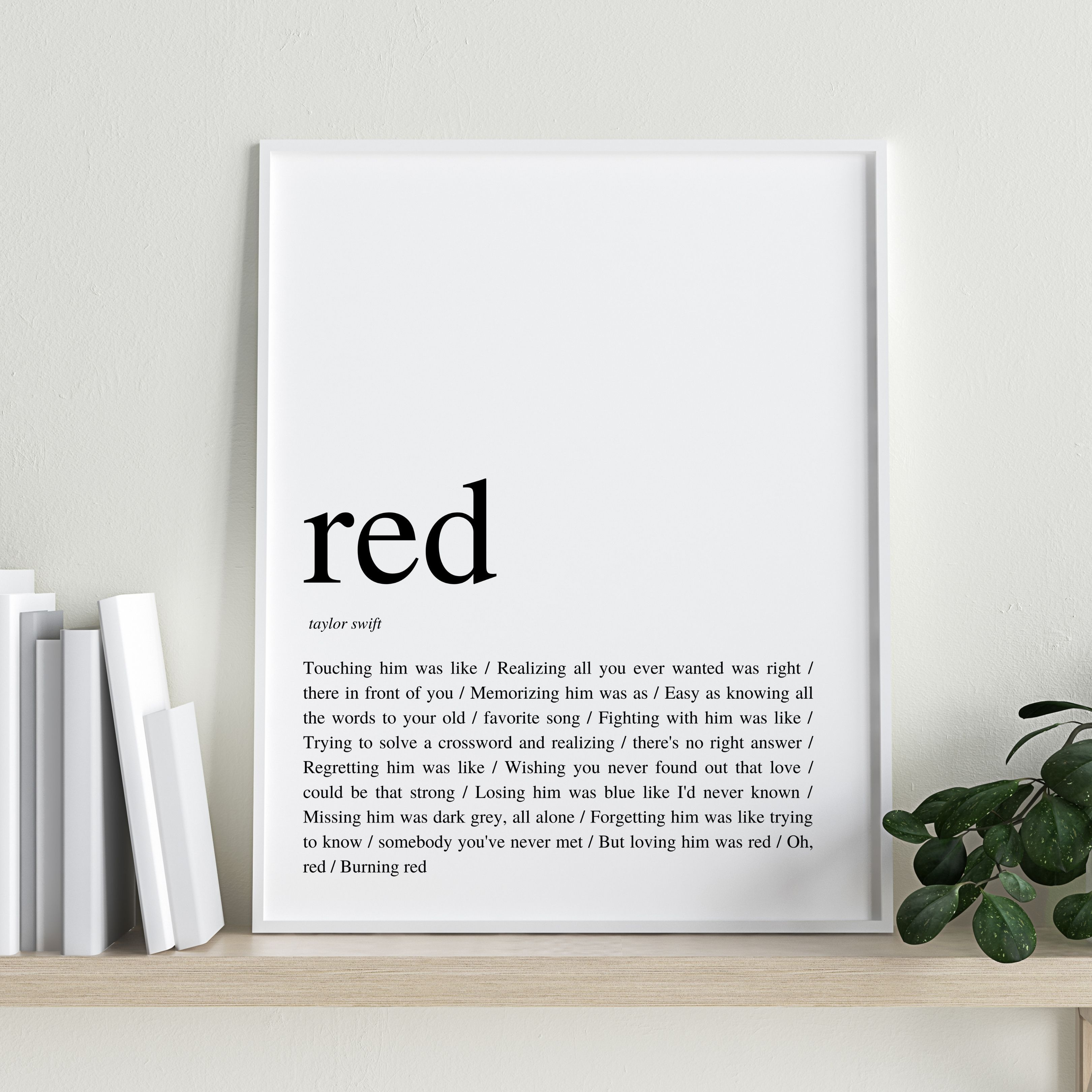 Taylor Swift Red Lyrics Poster Lyrics Wall Art Etsy In 2021 Lyric Poster Taylor Swift Lyrics Taylor Swift Red Lyrics