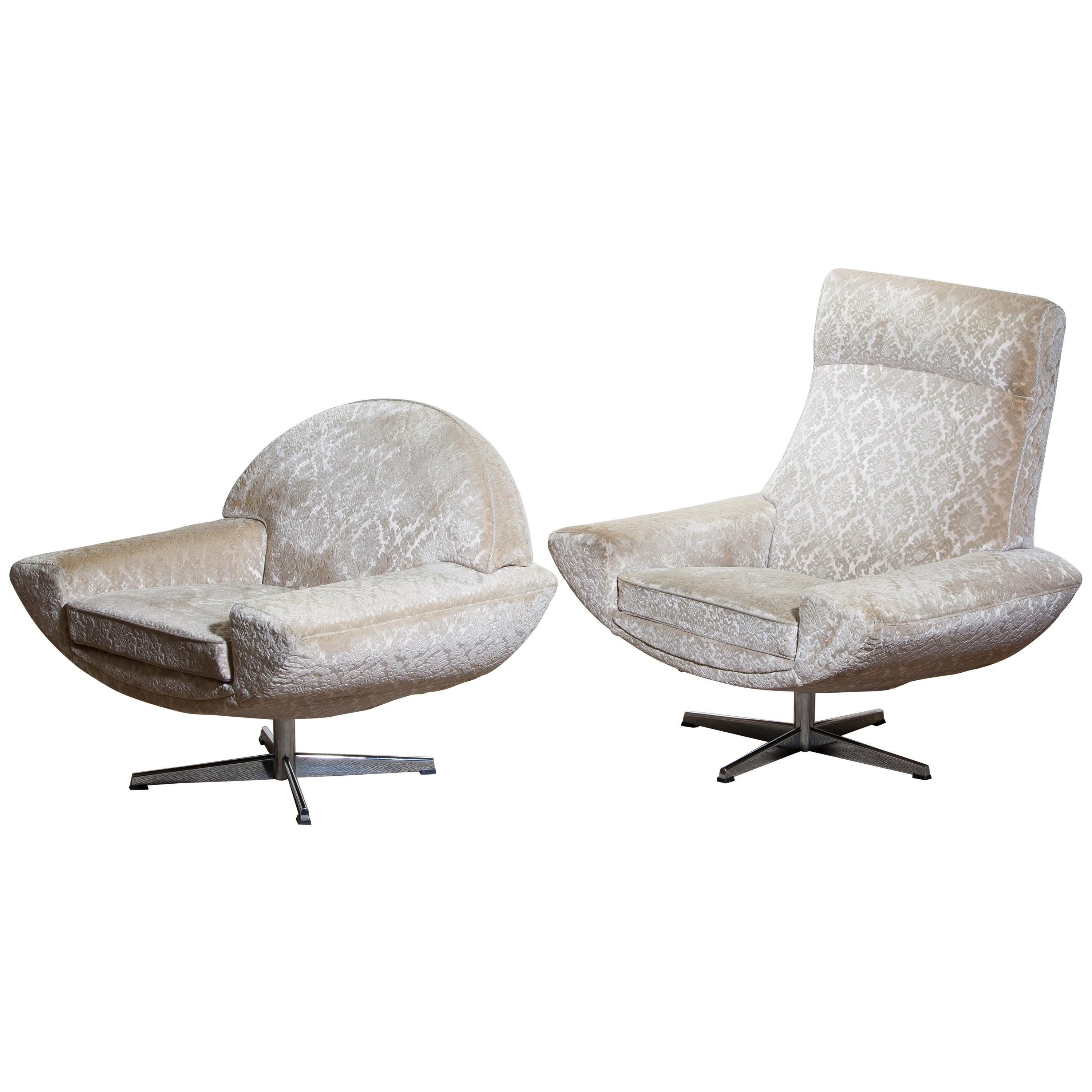1960s Two Capri Swivel Easy Or Lounge Chairs By Johannes