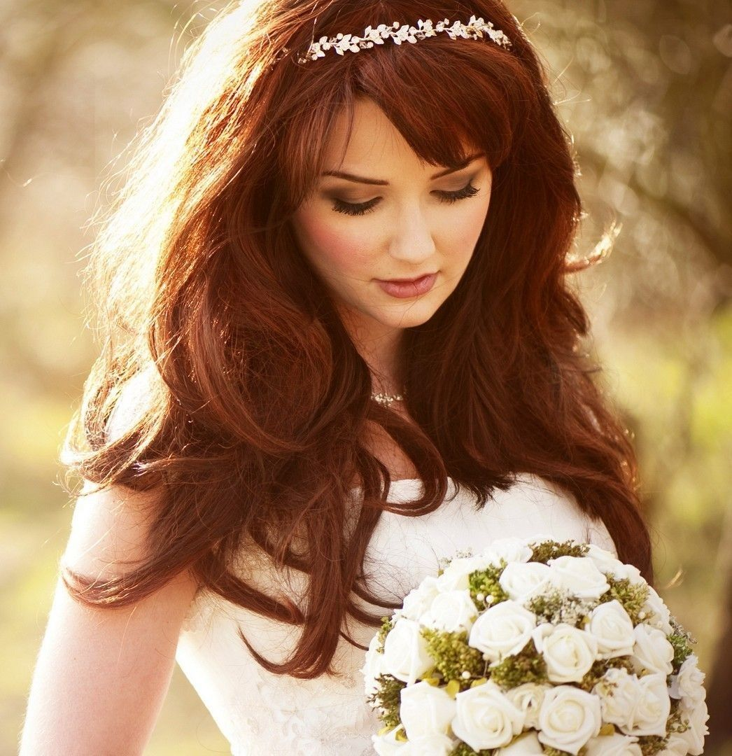 Wedding Hairstyles For Long Hair Half Up With Tiara 2015