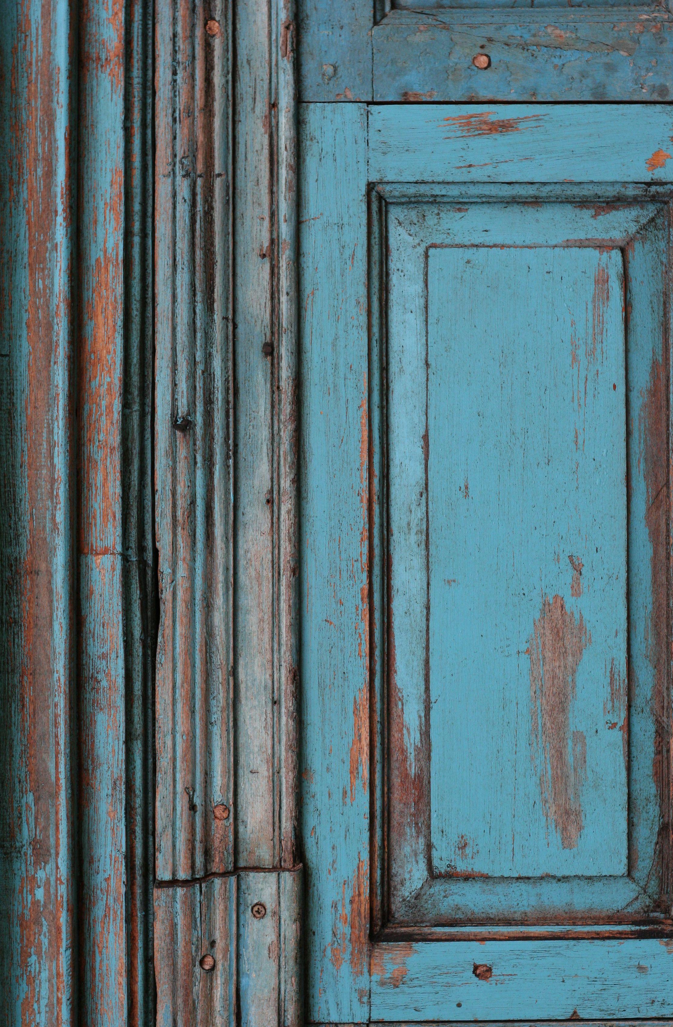 Vintage Doors Blue Antique Door Closeup Free Stock
